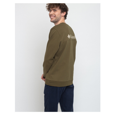Columbia Columbia Lodge Dbl Knit Sweatshirt New Olive/Foss