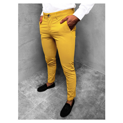Chinos nohavice v žltej farbe JB/JP1146/3