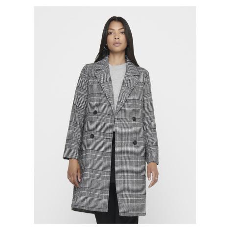 Šedý kockovaný ľahký kabát ONLY Arabella