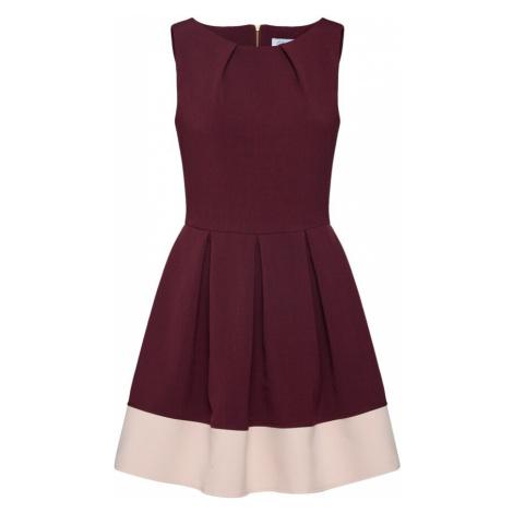 Closet London Puzdrové šaty  burgundská