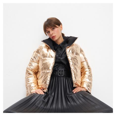 Mohito - Obojstranná bomber bunda - Zlatá