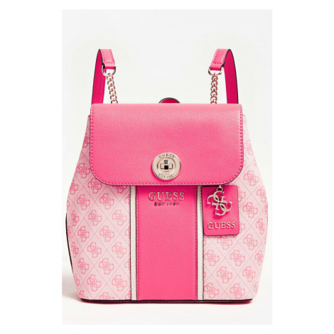 Guess ružové ruksak Cathleen 4G Logo