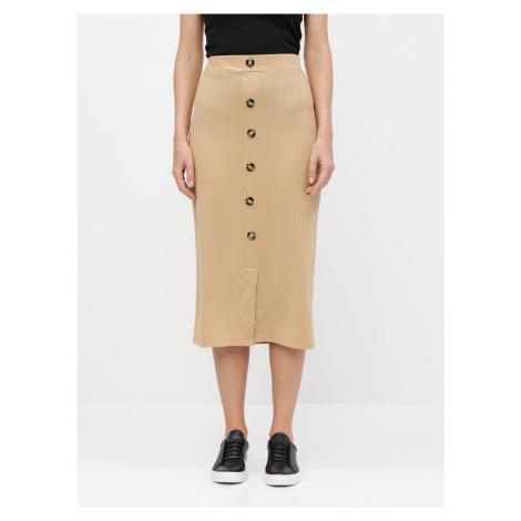 Béžová puzdrová sukňa TALLY WEiJL