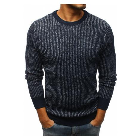 Pásikavý pánsky modrý sveter wx1101