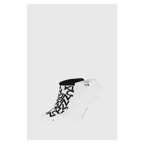 2 PACK bielych ponožiek Calvin Klein Deangelo biela