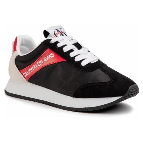 Sneakersy CALVIN KLEIN JEANS - Jill R8527 Black/Racing Red