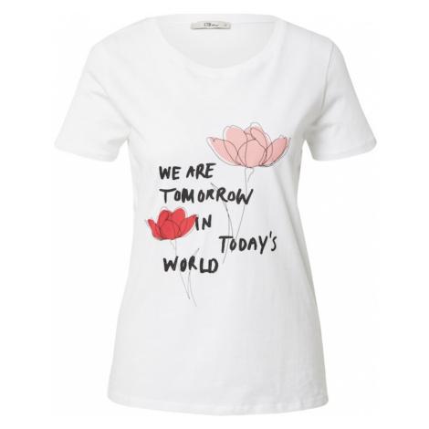 LTB Tričko 'DAWOLI'  biela / čierna / ružová / červená