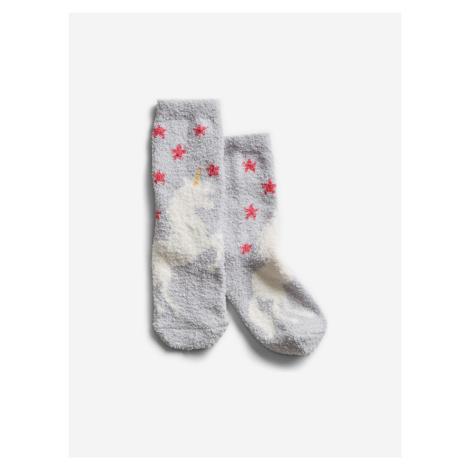 Sivé dievčenské ponožky