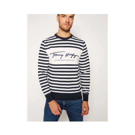 TOMMY HILFIGER Mikina Th Cool Signature MW0MW14441 Tmavomodrá Regular Fit