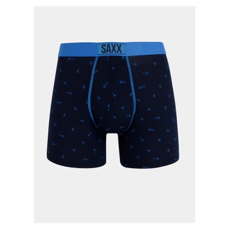 Tmavomodré vzorované boxerky SAXX