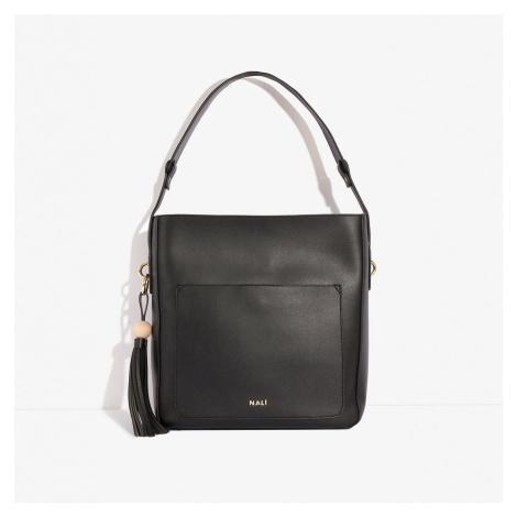 Čierna kabelka so strapcami Nali