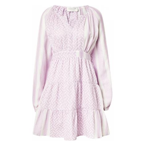 Cecilie Copenhagen Košeľové šaty 'Monica'  fialová / biela