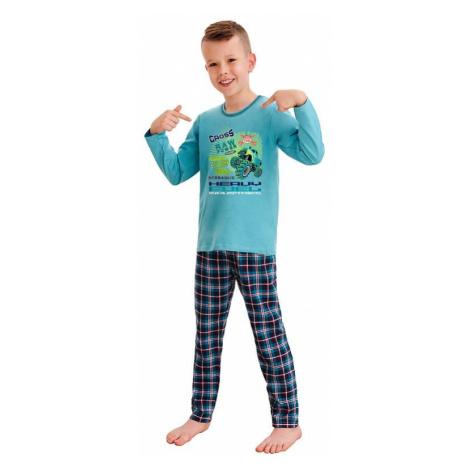 Chlapčenské pyžamo Leo cross power modré Taro