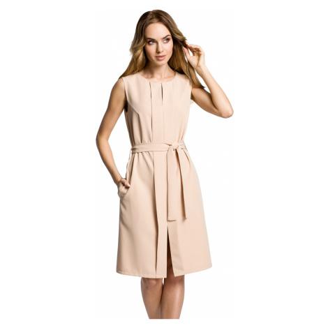 Béžové šaty MOE 365