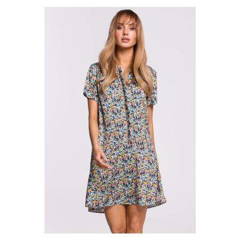 Viacfarebné kvetované šaty M505 Moe