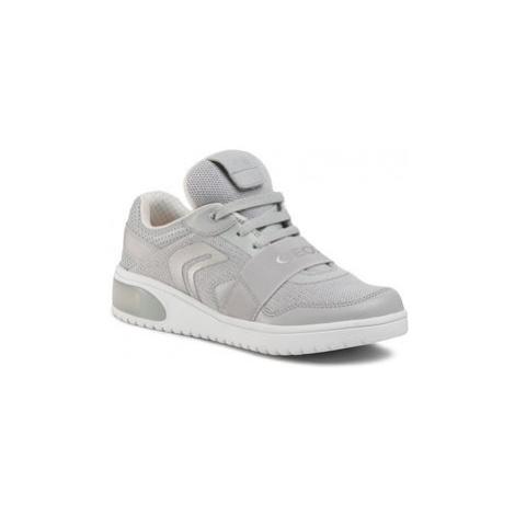 Geox Sneakersy J Xled G.A J928DA 06KNF C1010 S Sivá