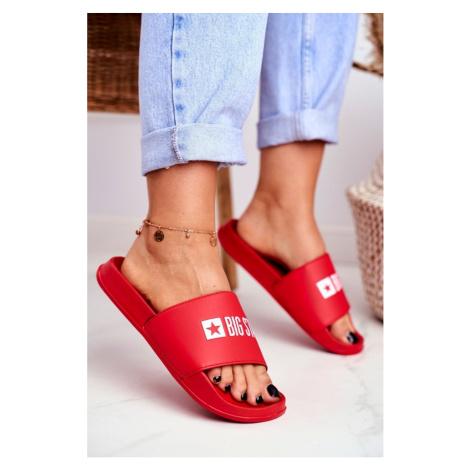 Women's Slides Big Star Red GG274041