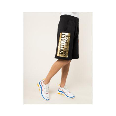 Versace Jeans Couture Bavlnené šortky A4GVA1TC Čierna Regular Fit