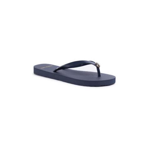 Tory Burch Žabky Solid Thin Flip Flop 47405 Tmavomodrá