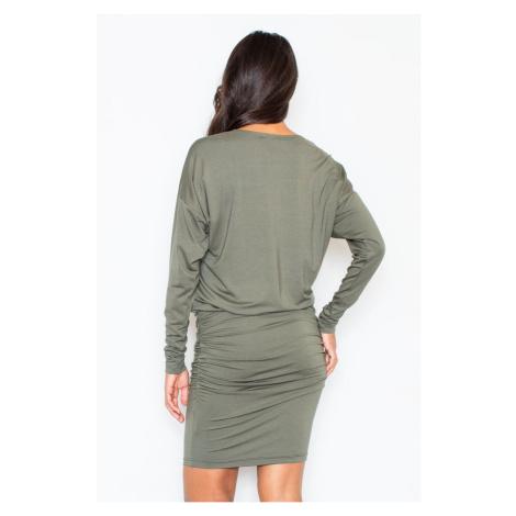 Figl Woman's Dress M343 Olive
