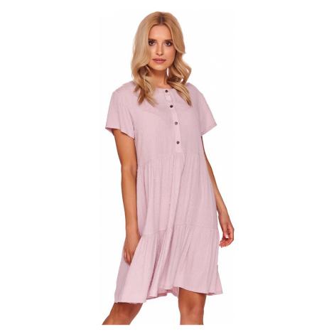Ružová tehotenská nočná košeľa TCB4130