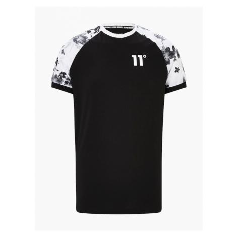 11 Degrees Tričko 'FLORAL'  biela / čierna
