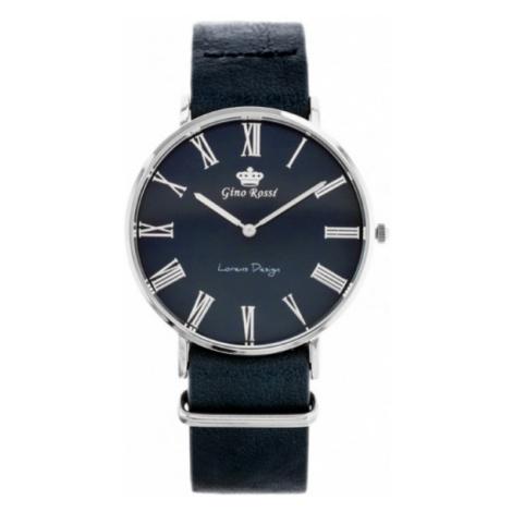 Pánske hodinky granátovej farby Gino Rossi 11014A5-6F1