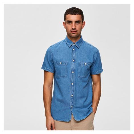 Džínsová košeľa s krátkym rukávom Regular Vincent Selected