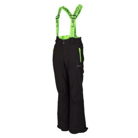 Lewro NUKA zelená - Detské lyžiarske nohavice