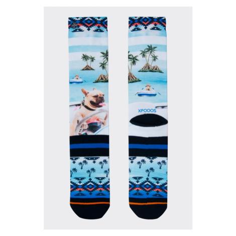 XPOOOS ponožky pánske pláž  -modrá