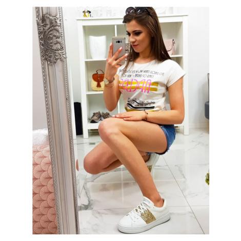 Women's T-shirt with a cream print RY1175 DStreet
