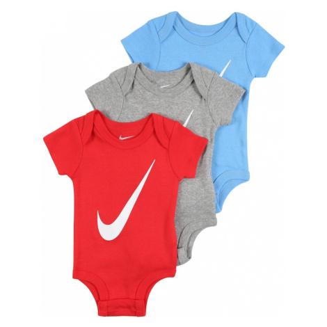Nike Sportswear Body  červená / sivá melírovaná / svetlomodrá / biela