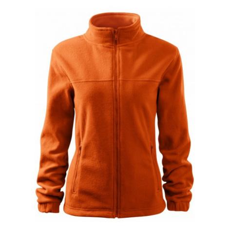Dámska bunda fleecová, oranžová