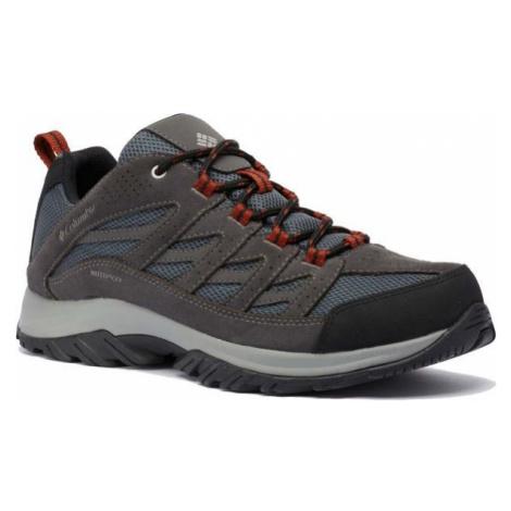Columbia CRESTWOOD WATERPROOF M tmavo šedá - Pánska outdoorová obuv
