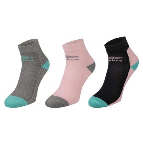 Umbro SPORT SOCKS 3P ružová - Detské ponožky