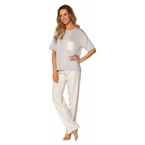 Dámske pyžamo Rossli Victoria SAL-PY-1170 Grey SL Světle šedá
