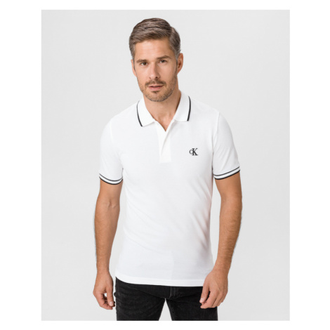 Calvin Klein Polo tričko Biela