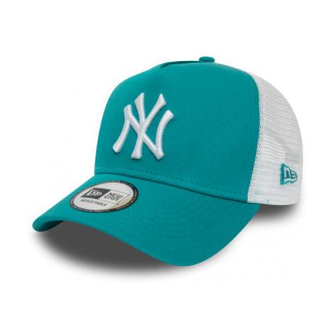 Dámska Šiltovka New Era A-Frame Trucker League Essential Mlb New York Yankees Teal/White