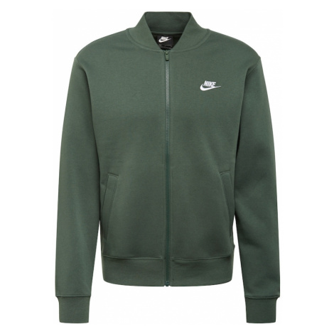 Nike Sportswear Tepláková bunda  biela / smaragdová