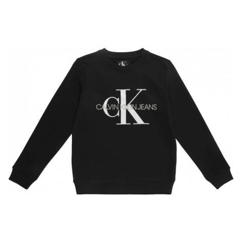 Calvin Klein Jeans Mikina  biela / čierna