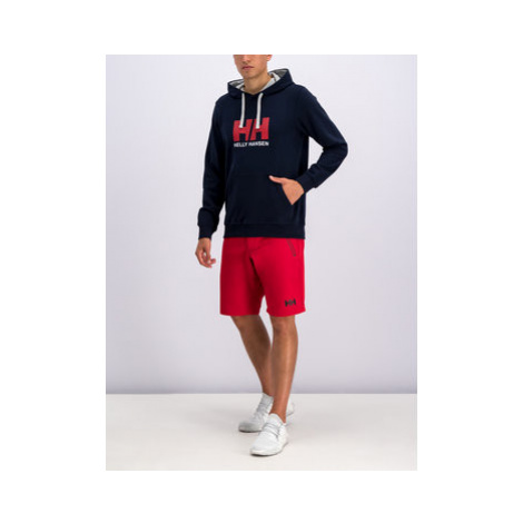 Helly Hansen Bavlnené šortky Crewline 53018 Červená Regular Fit
