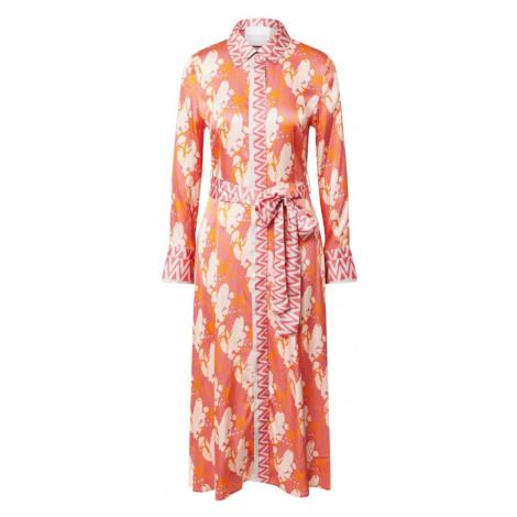 DELICATELOVE Košeľové šaty 'Mina'  medová / lososová / béžová