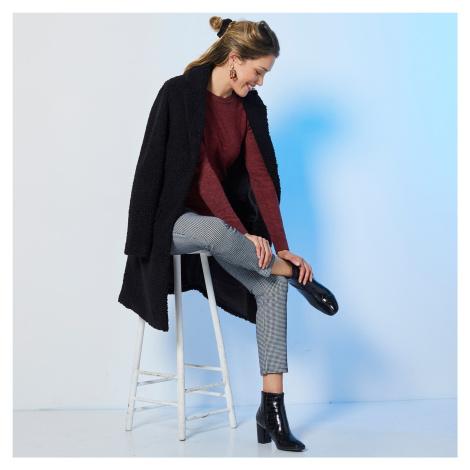 Blancheporte Buklé kabát čierna