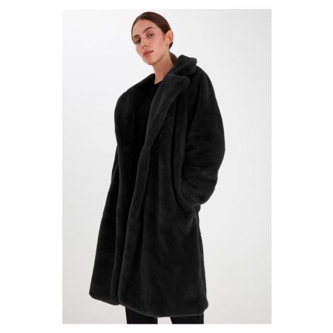 Ichi čierny zimný kabát Ihhaya JA Black