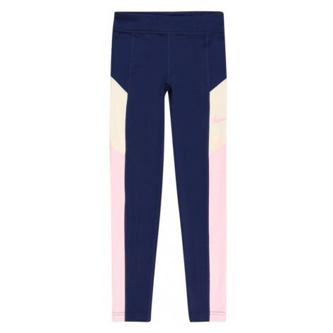 NIKE Športové nohavice 'TROPHY'  námornícka modrá / pastelovo žltá / ružová