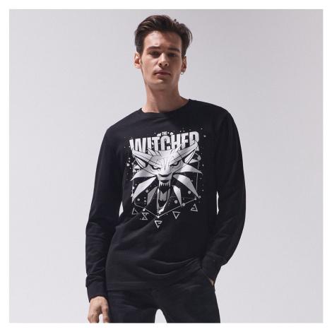 Cropp - Tričko s dlhými rukávmi The Witcher - Čierna
