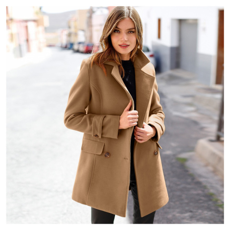 Blancheporte Kabát, jednofarebný karamelová