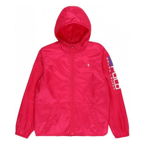 POLO RALPH LAUREN Prechodná bunda  ružová / biela / modrá