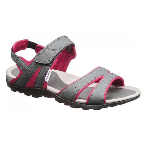 QUECHUA Dámske Sandále Nh100 Sivé