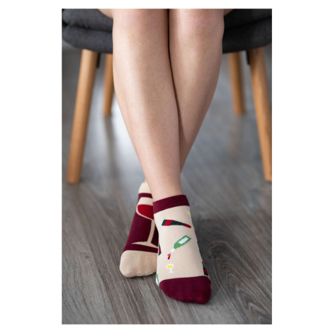 Barefoot ponožky krátke - Víno 43-46